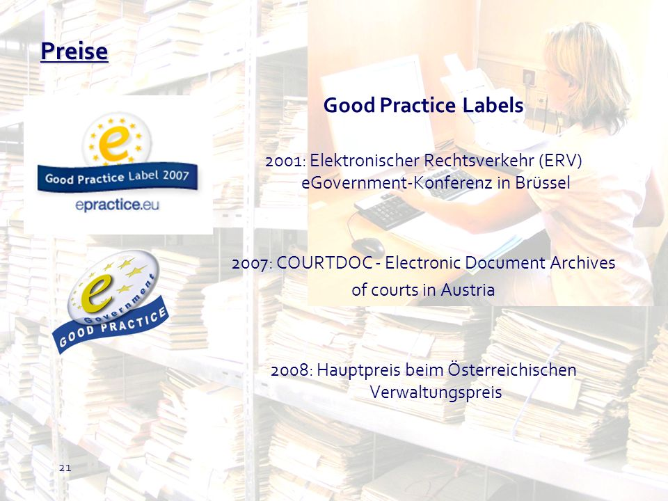 Preise Good Practice Labels