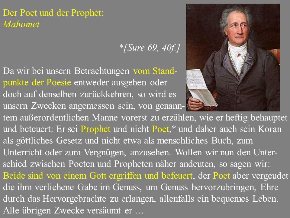 Der Poet und der Prophet:
