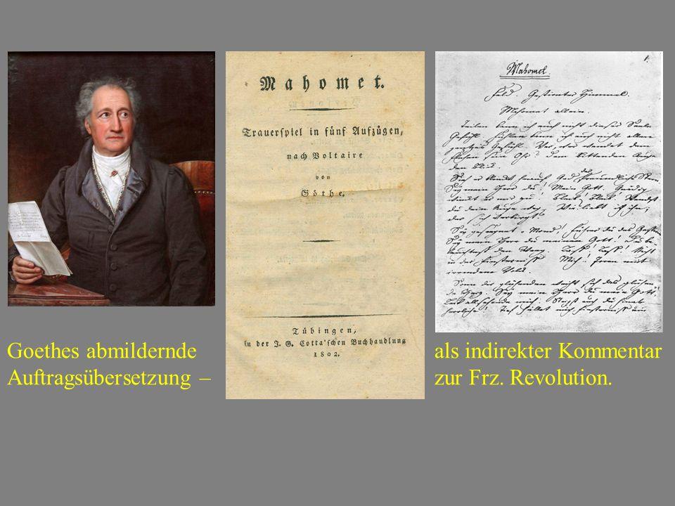 Goethes abmildernde als indirekter Kommentar