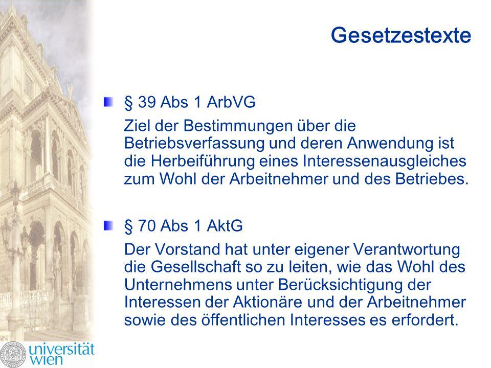 Gesetzestexte § 39 Abs 1 ArbVG