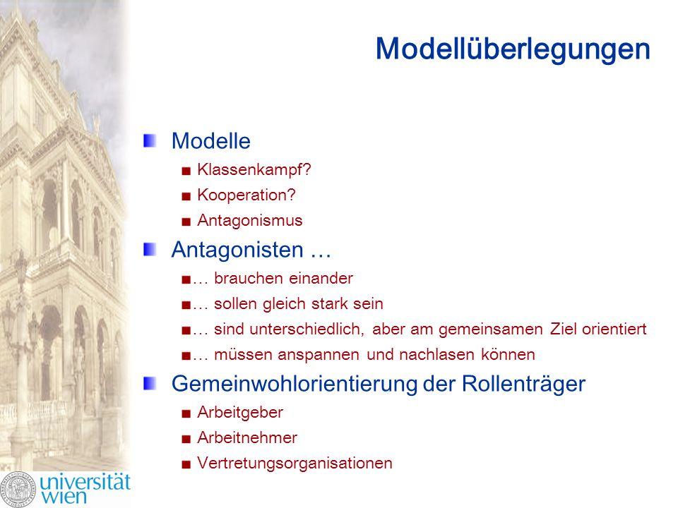 Modellüberlegungen Modelle Antagonisten …