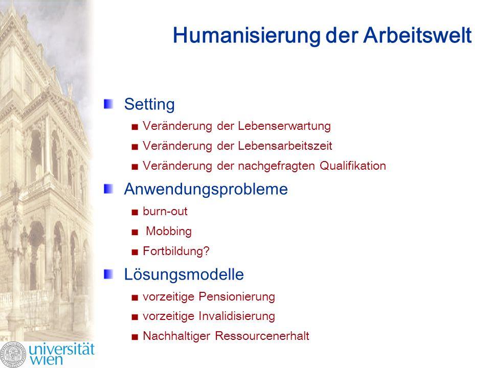 Humanisierung der Arbeitswelt