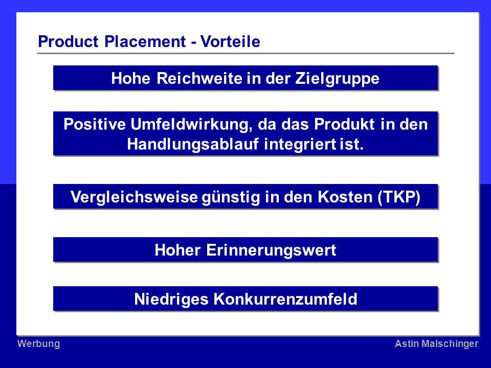 Product Placement - Vorteile