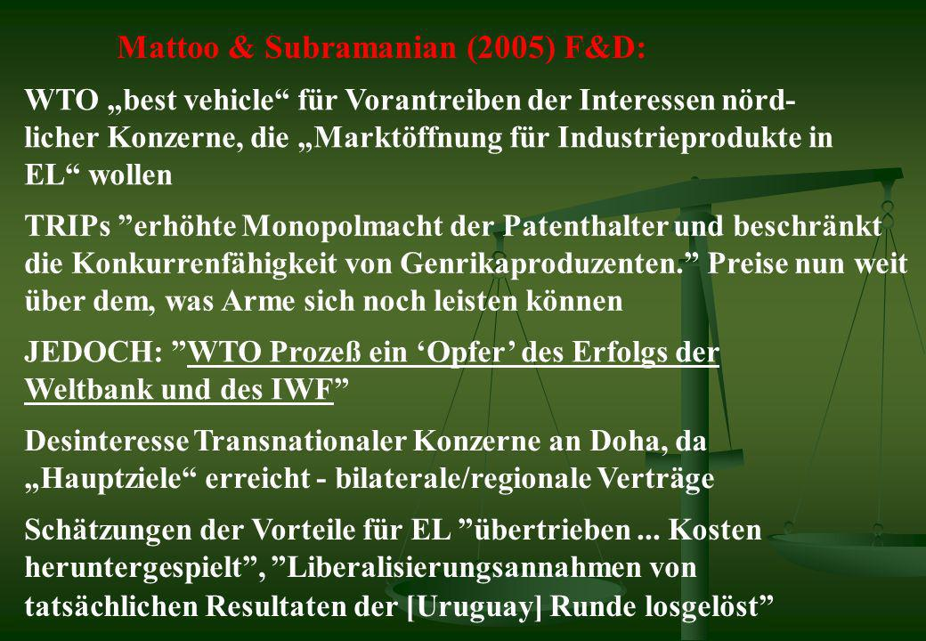 Mattoo & Subramanian (2005) F&D: