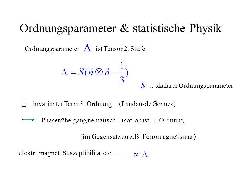 Ordnungsparameter & statistische Physik