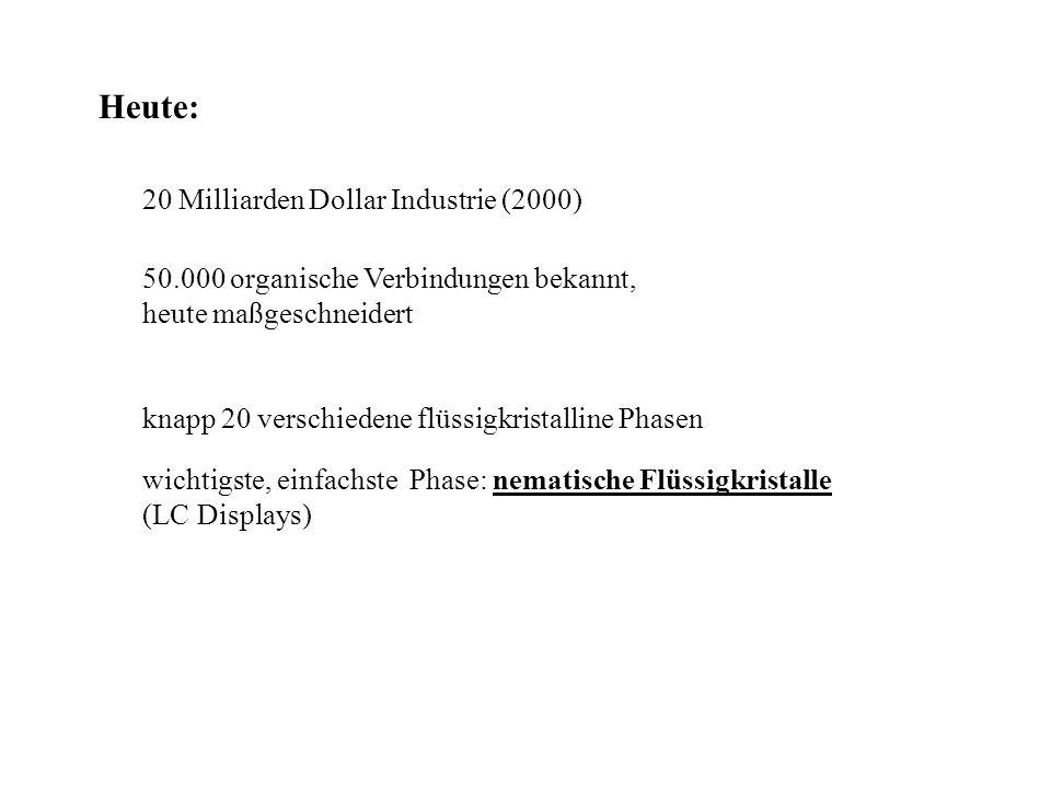 Heute: 20 Milliarden Dollar Industrie (2000)