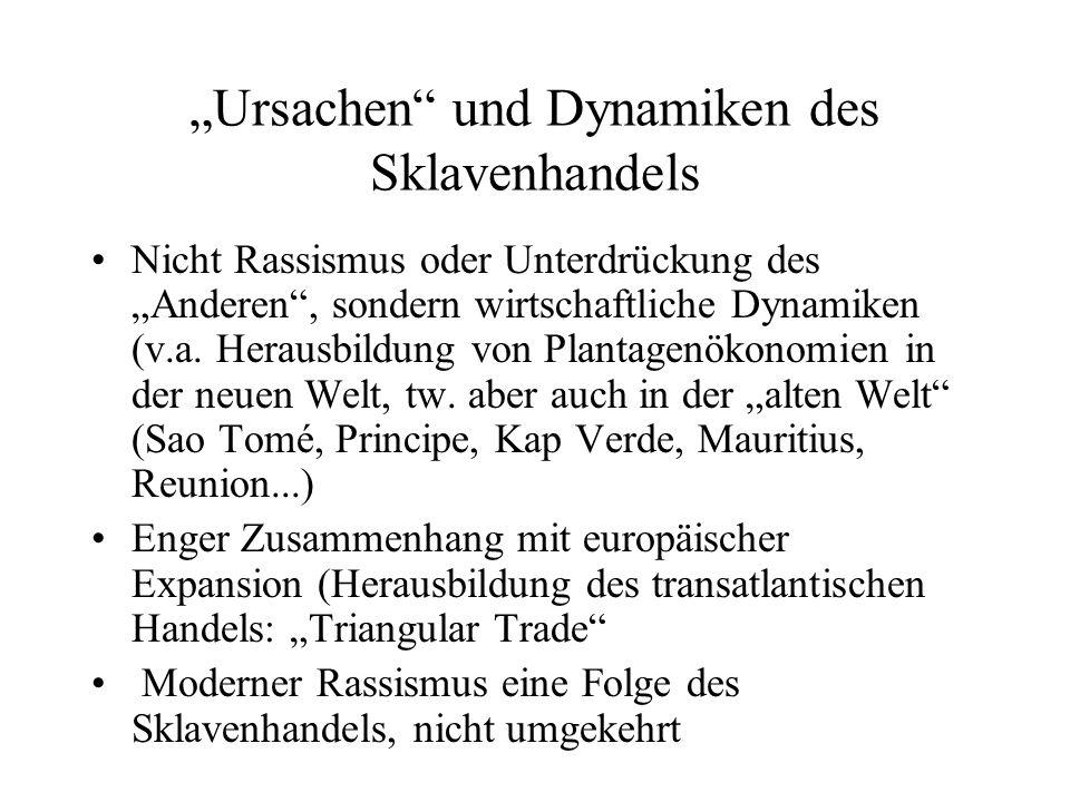"""""""Ursachen und Dynamiken des Sklavenhandels"""