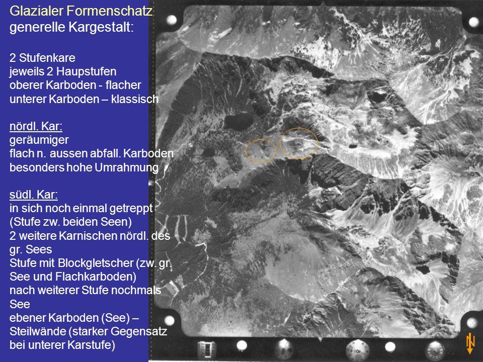 N Glazialer Formenschatz generelle Kargestalt: 2 Stufenkare