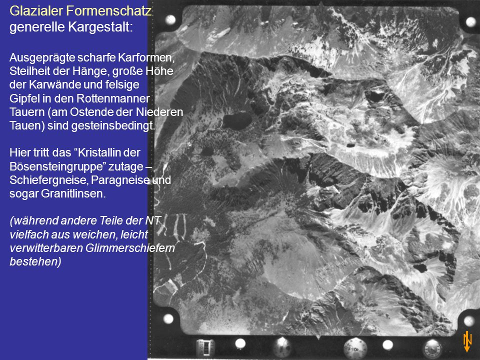 N Glazialer Formenschatz generelle Kargestalt: