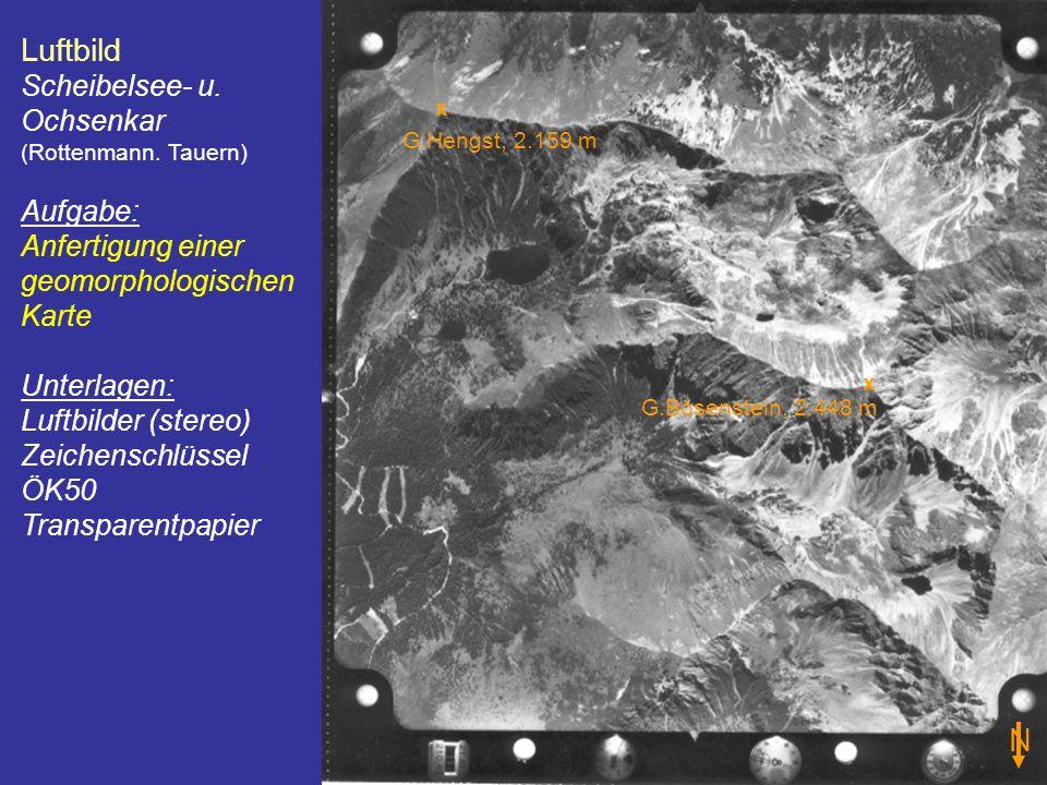 Luftbild N Scheibelsee- u. Ochsenkar (Rottenmann. Tauern) Aufgabe: