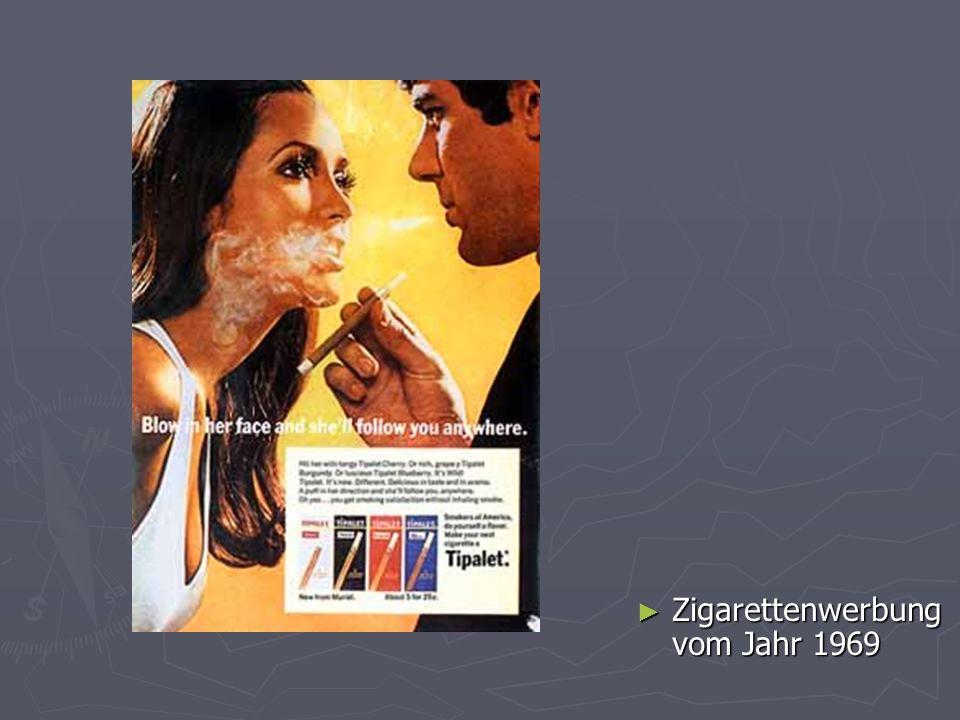 Zigarettenwerbung vom Jahr 1969