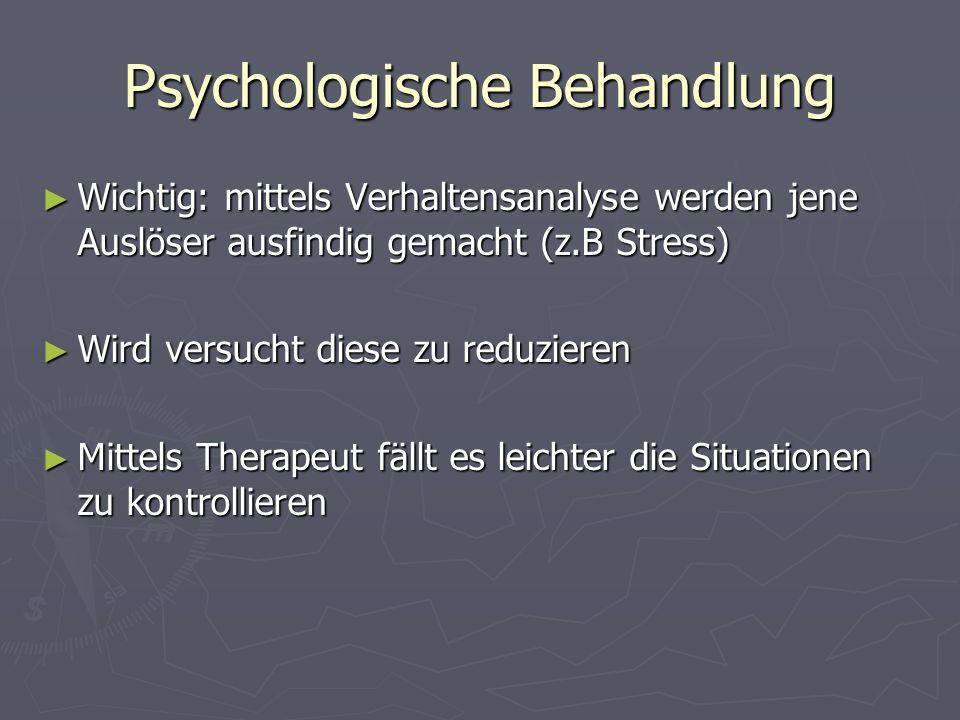 Psychologische Behandlung