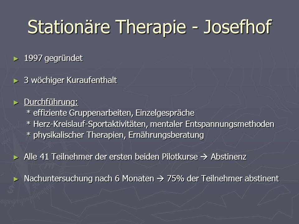 Stationäre Therapie - Josefhof