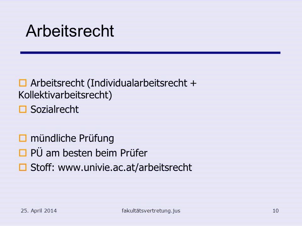 Arbeitsrecht Arbeitsrecht (Individualarbeitsrecht + Kollektivarbeitsrecht) Sozialrecht. mündliche Prüfung.