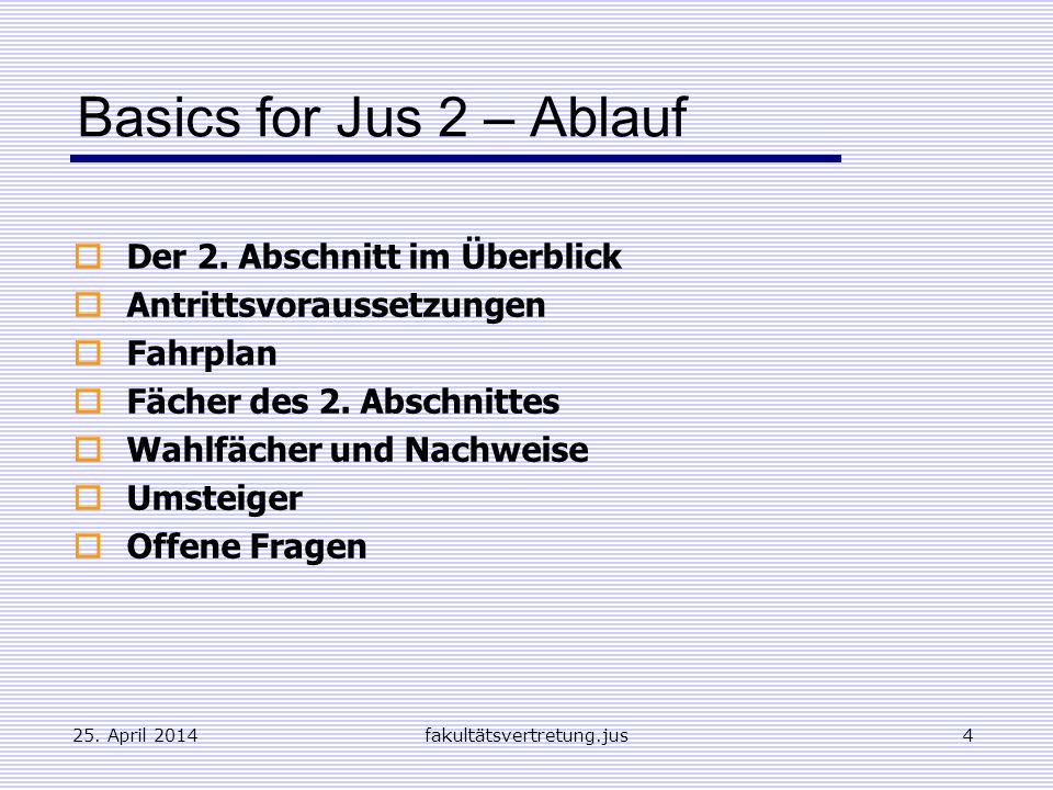 Basics for Jus 2 – Ablauf Der 2. Abschnitt im Überblick
