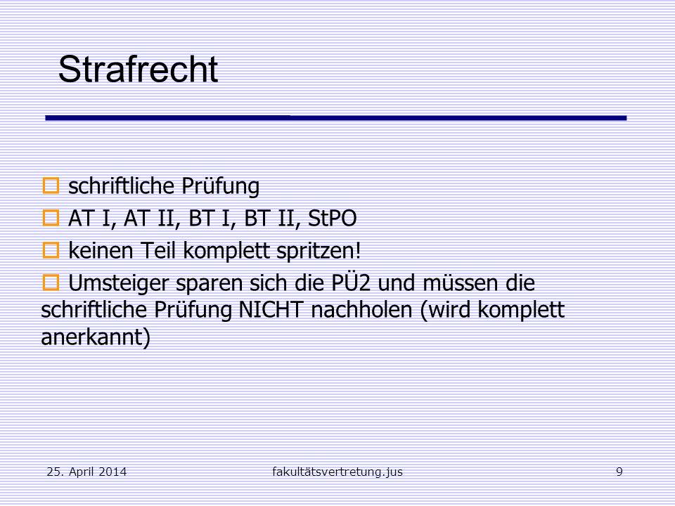 Strafrecht schriftliche Prüfung AT I, AT II, BT I, BT II, StPO
