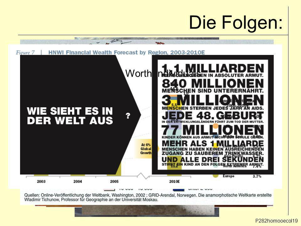 Die Folgen: HNWI = High Net Worth Individuals P282homooecol19