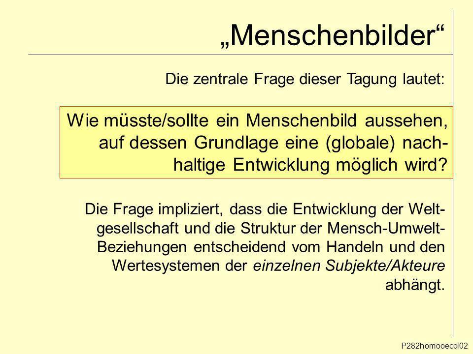 """""""Menschenbilder Wie müsste/sollte ein Menschenbild aussehen,"""