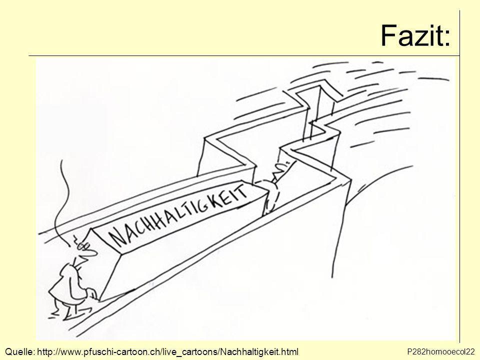 Fazit: Quelle: http://www.pfuschi-cartoon.ch/live_cartoons/Nachhaltigkeit.html P282homooecol22