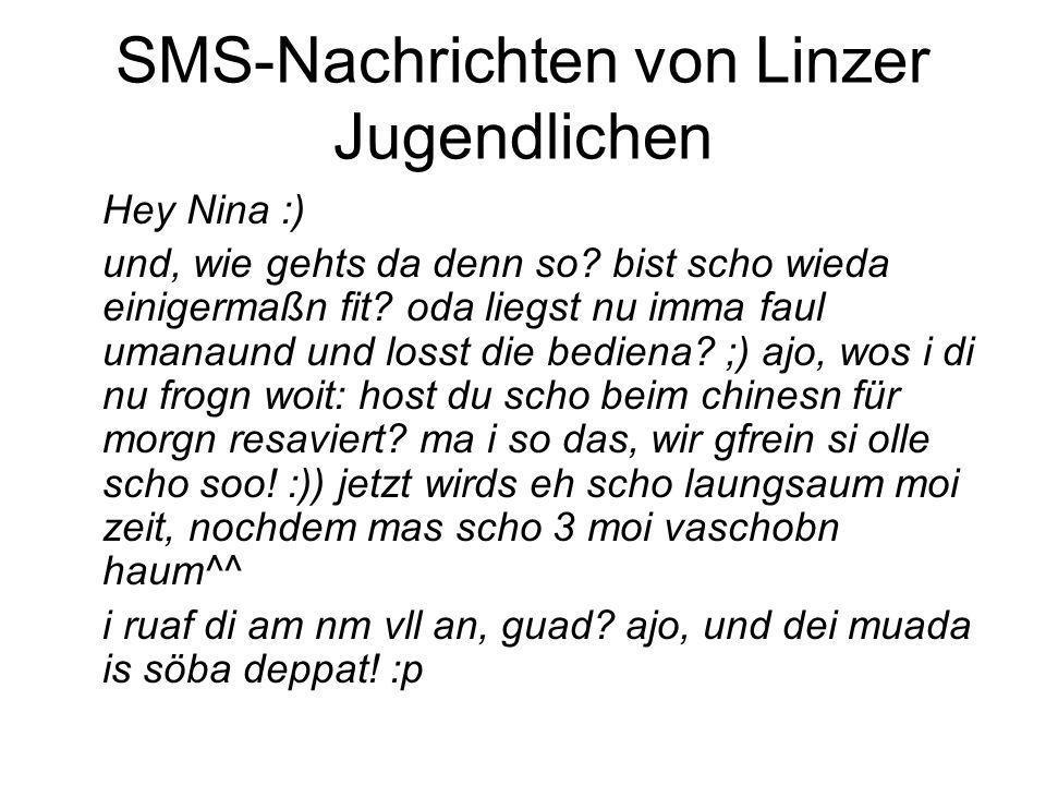 SMS-Nachrichten von Linzer Jugendlichen