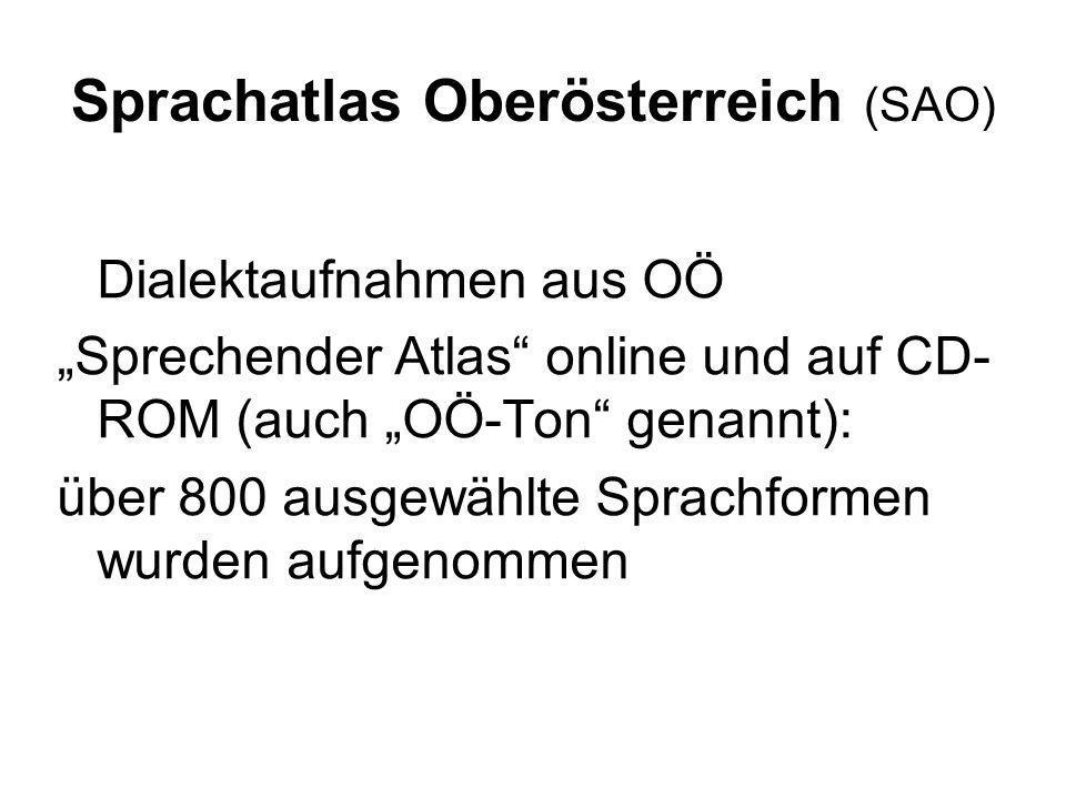 Sprachatlas Oberösterreich (SAO)