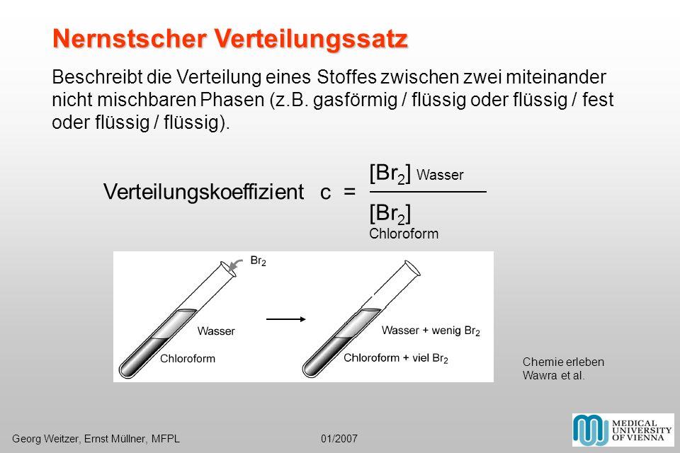 Verteilungskoeffizient c =