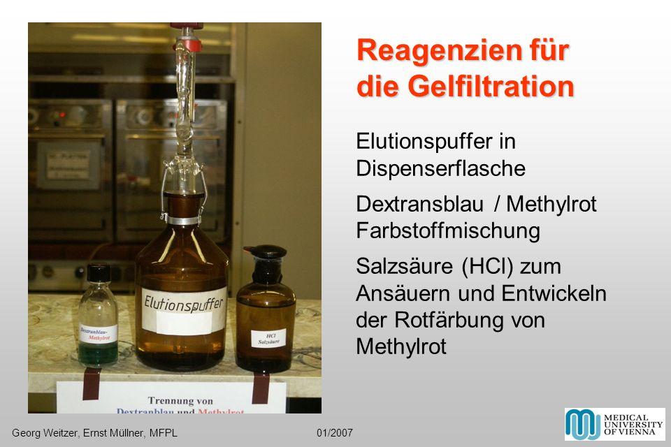 Reagenzien für die Gelfiltration