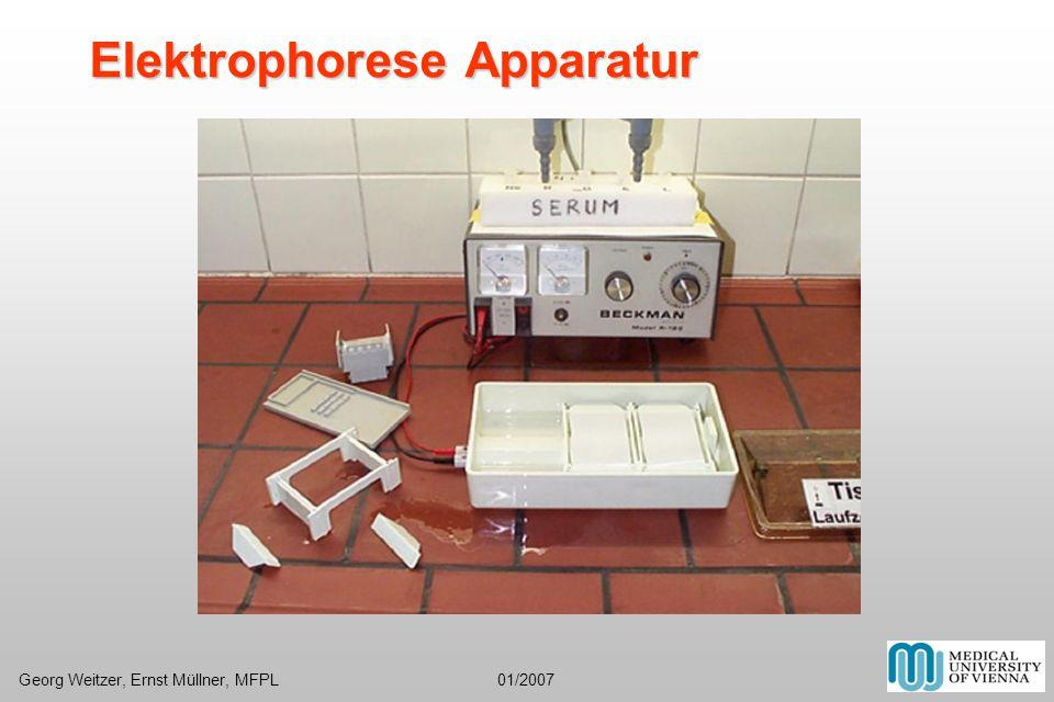Elektrophorese Apparatur