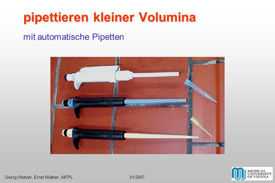 pipettieren kleiner Volumina mit automatische Pipetten