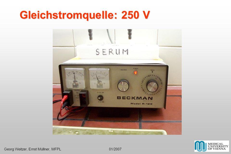 Gleichstromquelle: 250 V Georg Weitzer, Ernst Müllner, MFPL 01/2007.