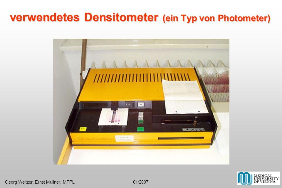 verwendetes Densitometer (ein Typ von Photometer)
