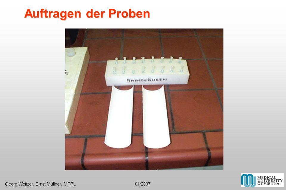 Auftragen der ProbenGeorg Weitzer, Ernst Müllner, MFPL 01/2007.