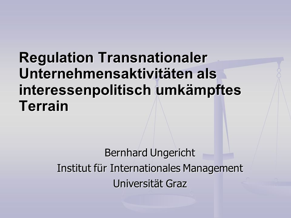 Institut für Internationales Management