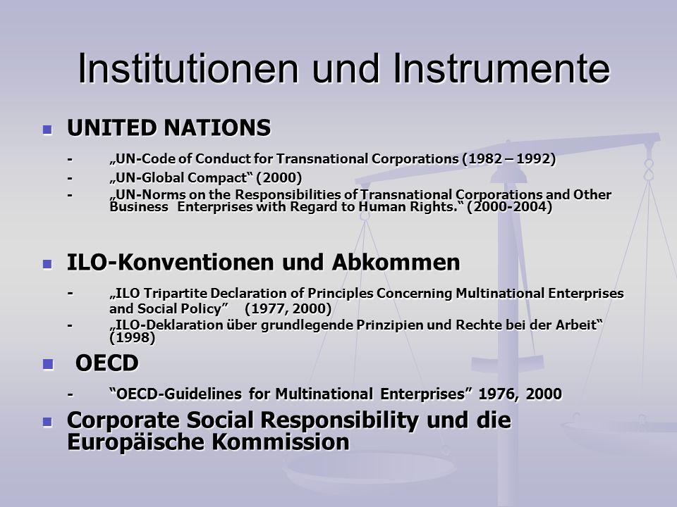 Institutionen und Instrumente