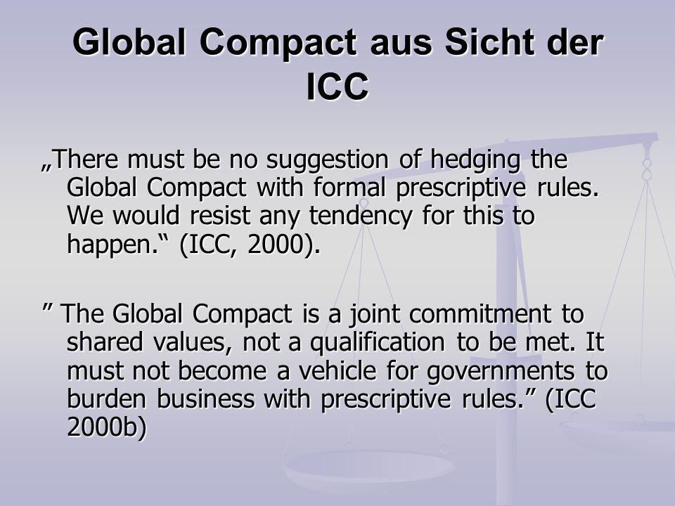 Global Compact aus Sicht der ICC