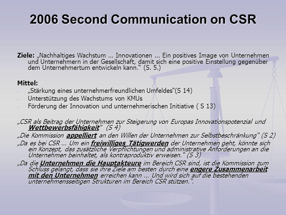 2006 Second Communication on CSR
