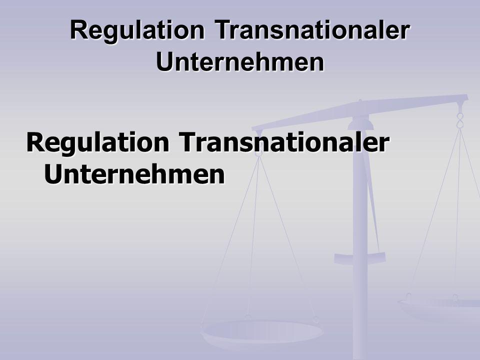 Regulation Transnationaler Unternehmen