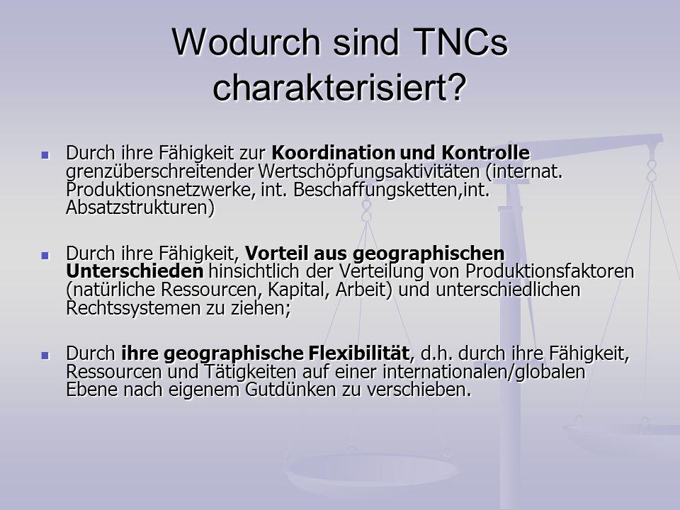Wodurch sind TNCs charakterisiert