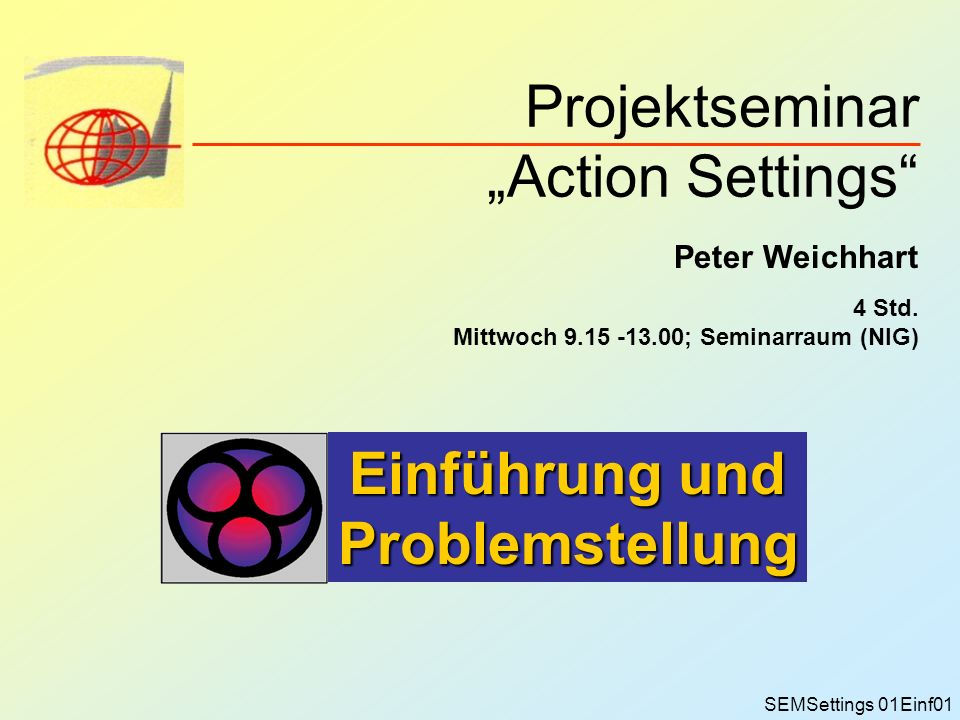 "Projektseminar ""Action Settings"