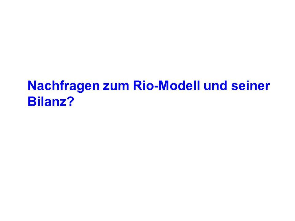 Nachfragen zum Rio-Modell und seiner Bilanz