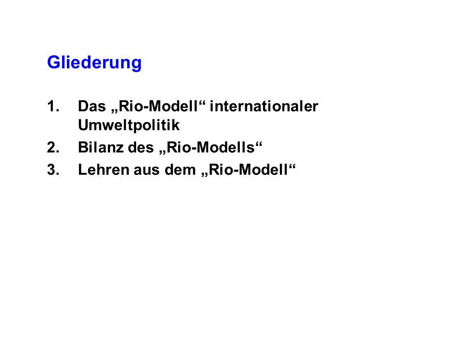 """Gliederung Das """"Rio-Modell internationaler Umweltpolitik"""