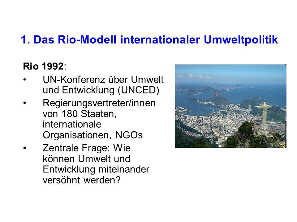 1. Das Rio-Modell internationaler Umweltpolitik