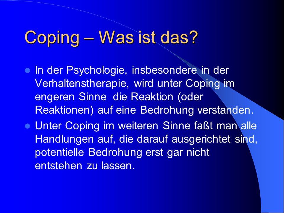Coping – Was ist das