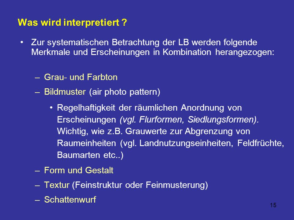 Was wird interpretiert