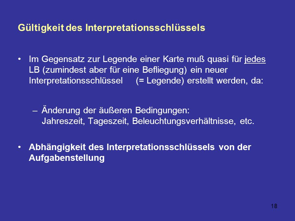 Gültigkeit des Interpretationsschlüssels