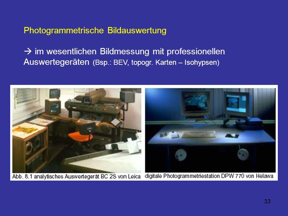 Photogrammetrische Bildauswertung