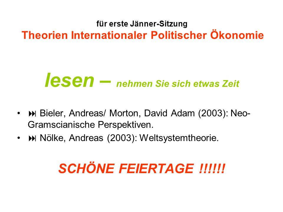 für erste Jänner-Sitzung Theorien Internationaler Politischer Ökonomie