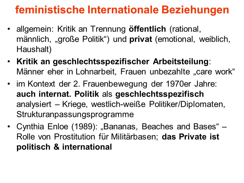 feministische Internationale Beziehungen