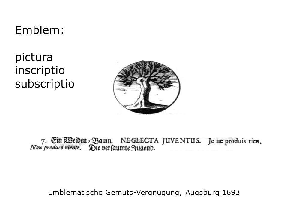 Emblematische Gemüts-Vergnügung, Augsburg 1693