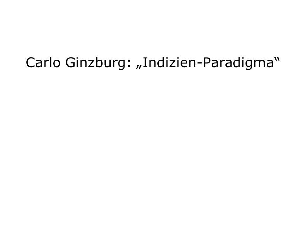 "Carlo Ginzburg: ""Indizien-Paradigma"